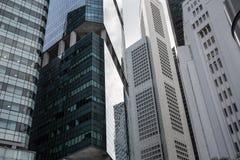 Wolkenkrabbers van Singapore Royalty-vrije Stock Foto's