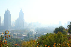 Wolkenkrabbers van stad Stock Fotografie