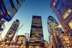 Wolkenkrabbers van Stad van Londen Stock Afbeelding