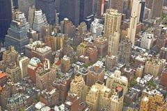 Wolkenkrabbers vanaf bovenkant Stock Foto