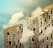 Wolkenkrabbers voorbij de hemel royalty-vrije illustratie