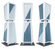 Wolkenkrabbersgebouwen, Moderne architectuur Stock Fotografie