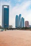 Wolkenkratzer in Abu Dhabi Lizenzfreie Stockfotografie