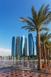 Wolkenkratzer in Abu Dhabi, UAE Lizenzfreies Stockbild