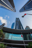 Wolkenkratzer in Abu Dhabi, UAE Stockbild