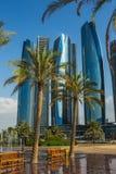 Wolkenkratzer in Abu Dhabi, UAE Stockfoto