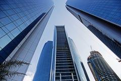 Wolkenkratzer in Abu Dhabi, Vereinigte Arabische Emirate Stockfotografie