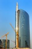 Wolkenkratzer-Bauarbeiten stockfotografie