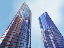 Wolkenkratzer, bauend auf stockbild