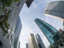 Wolkenkratzer bei Shiodome Distric Tokyo Lizenzfreies Stockfoto