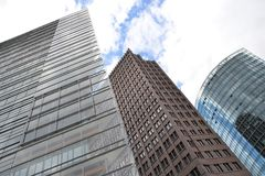 Wolkenkratzer in Berlin Stockfotos