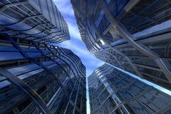 Wolkenkratzer bis zum Tag Stockfotos