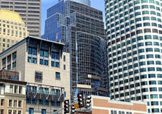 Wolkenkratzer in Boston Stockbild