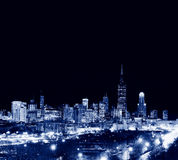 Wolkenkratzer in Chicago-Stadt, Skyline, Illinois, USA Stockbild