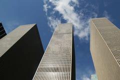 Wolkenkratzer der 6. Allee oder der Allee des Amerikas in Manhattan Stockbilder