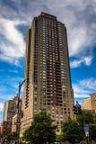 Wolkenkratzer in der Batterie Park City, Manhattan, New York Lizenzfreie Stockfotos