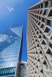 Wolkenkratzer in der La-Verteidigung, Paris, Frankreich Lizenzfreies Stockbild