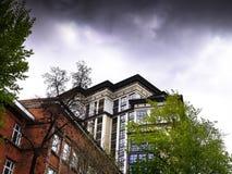 Wolkenkratzer in der Mitte von Moskau Lizenzfreie Stockfotos