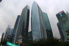 Wolkenkratzer in der Mitte von Singapur Lizenzfreies Stockfoto
