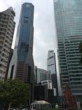 Wolkenkratzer in der Mitte von Singapur Lizenzfreies Stockbild