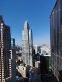Wolkenkratzer, die den Central Park übersehen Stockbilder