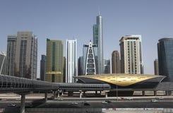 Wolkenkratzer in Dubai Stockfotografie