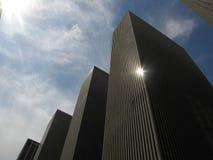 Wolkenkratzer-Fassaden Lizenzfreie Stockfotografie