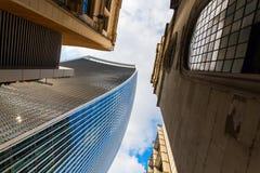 Wolkenkratzer 20 Fenchurch-Straße in London, Großbritannien Lizenzfreie Stockfotos