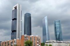 Wolkenkratzer in Finanzzentrum, Madrid, Spanien stockbild
