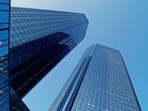 Wolkenkratzer in Frankfurt Stockbilder