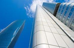 Wolkenkratzer in Frankfurt, Deutschland Stockfotos