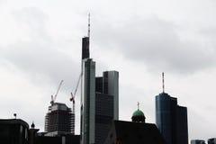 Wolkenkratzer in Frankfurt-am-Main Stockfotos