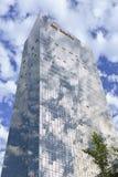 Wolkenkratzer gegen einen blauen Himmel in Peking-Mitte, China Lizenzfreies Stockfoto