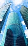 Wolkenkratzer, Geschäftszentrum in der Großstadt Stockfotos