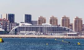 Wolkenkratzer in Gibraltar Stockfoto