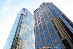 Wolkenkratzer, hohe Anstiege. stockfoto