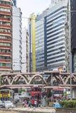 Wolkenkratzer in Hong Kong, China Stockbild