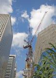 Wolkenkratzer im Bau Stockbild