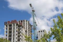 Wolkenkratzer im Bau Lizenzfreie Stockfotografie