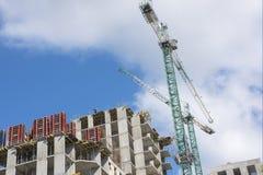 Wolkenkratzer im Bau Lizenzfreies Stockfoto