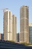Wolkenkratzer im Bau, Peking, China Lizenzfreies Stockfoto