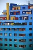 Wolkenkratzer im Blau Stockfotografie