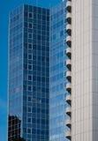 Wolkenkratzer im Finanzbezirk von Frankfurt, Deutschland Lizenzfreie Stockfotos