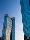 Wolkenkratzer im Finanzbezirk von Frankfurt, Deutschland Lizenzfreie Stockfotografie