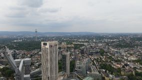 Wolkenkratzer im Frankfurt-Finanzbezirk stockfotografie