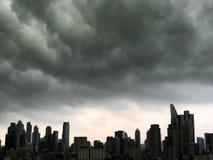 Wolkenkratzer, im Stadtzentrum gelegen, Bangkok-Stadtbilder, Regenwolke, Thailand lizenzfreies stockfoto