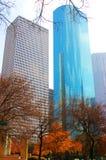 Wolkenkratzer in im Stadtzentrum gelegenem Houston Lizenzfreie Stockbilder