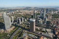 Wolkenkratzer in Levent, Istanbul - die Türkei Stockbild