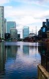 Wolkenkratzer Londons Themse Lizenzfreie Stockfotografie