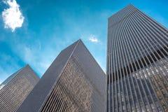 Wolkenkratzer in Manhattan, NYC, USA Stockfotos